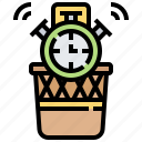 clock, management, time, waste icon