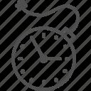bomb, clock, deadline, explosion, line, time, timer icon
