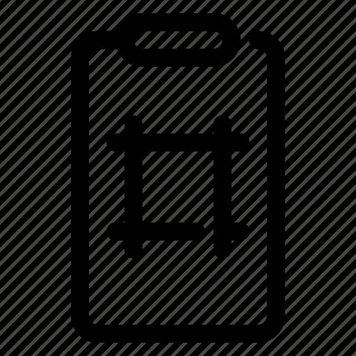 clipboard, draft, pattern, scheme icon