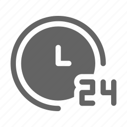 clock, hours, support, time icon