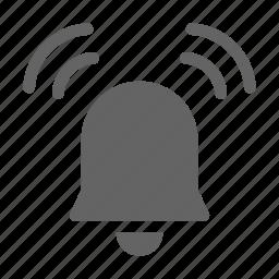 alarm, bell, ringing icon