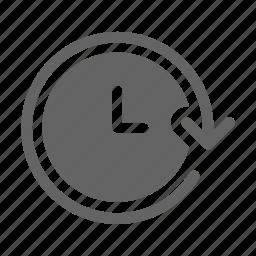 clock, forward, time icon