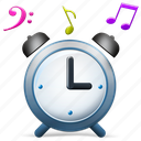 alarm, note, start, stop, time, timer, watch icon