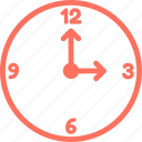 clock, three, three o clock, time, time zone, watch icon
