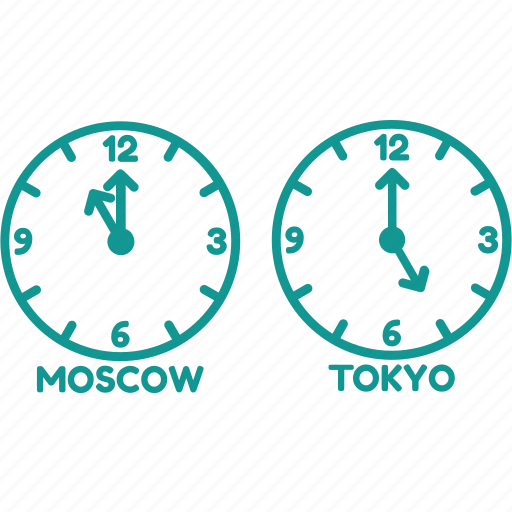 clock, moscow, time, time zone, tokyo, watch icon