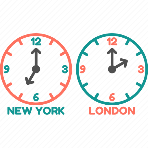 clock, london, newyork, time, time zone, watch icon
