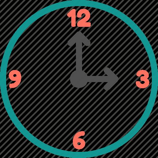 clock, three, three o clock, time, time zone, watch icon