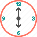 clock, six, six o clock, time, time zone, watch icon