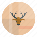 christmas, deer, fest, hipster, new year icon