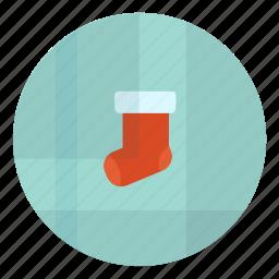 christmas, fest, festive, gift, present, sock, x-mas icon