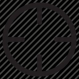 aim, bullseye, goal, objective, snipe, target icon