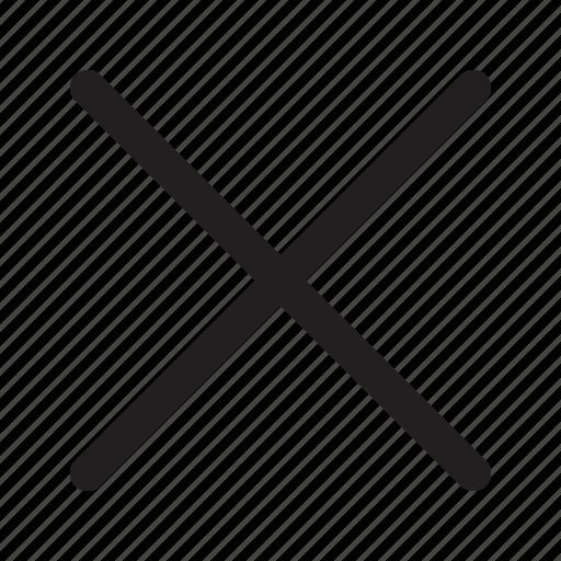 cancel, close, delete, dismiss, modal, remove icon