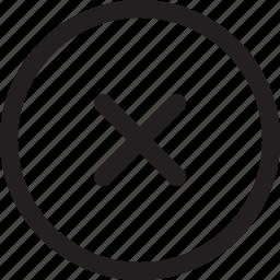 cancel, close, delete, dismiss, remove, round icon