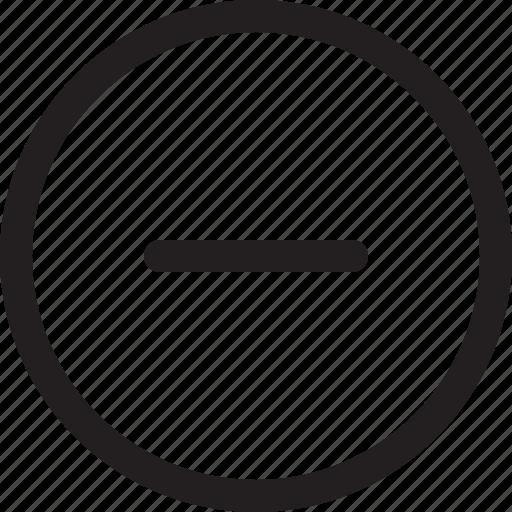 minus, round icon
