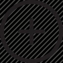 add, create, new, plus, round icon