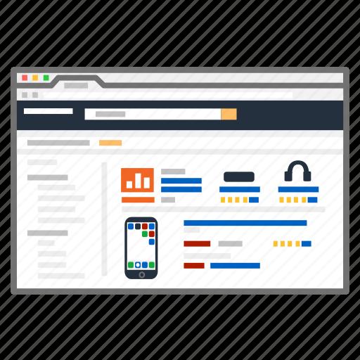 amazon, bargain, homepage, online, screenshot, search, shopping icon