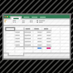 accounts, books, excel, microsoft, screenshot, spreadsheet, xls icon