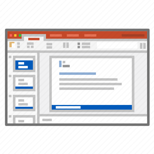 app, microsoft, powerpoint, presentation, screenshot, slides icon