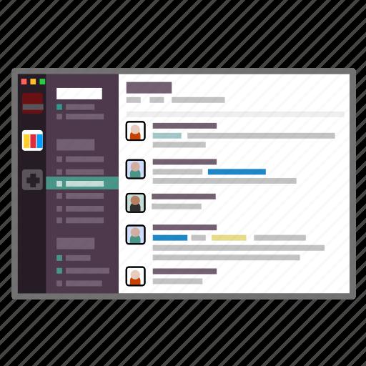 messenger, screenshot, sharing, slack, team, teamwork icon