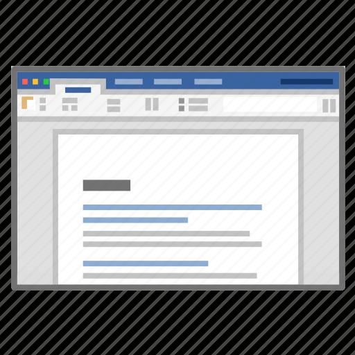 app, docs, microsoft, processor, screenshot, word icon