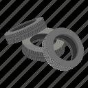 cartoon, isometric, logo, object, rim, road, tire