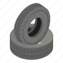 cartoon, isometric, logo, object, road, tire, wheel