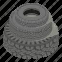 cartoon, isometric, logo, object, road, tyre