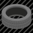 cartoon, decoration, isometric, logo, object, road, tyre