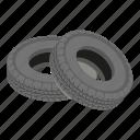 cartoon, isometric, logo, object, road, truck, tyre