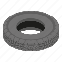 car, cartoon, isometric, logo, object, road, tyre