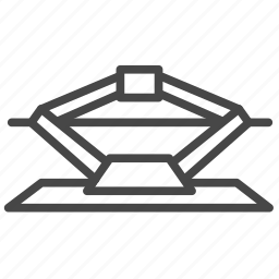 garage, part, tire, tire jack, wheel icon