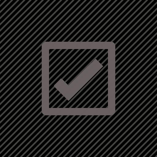 checkbox, on icon