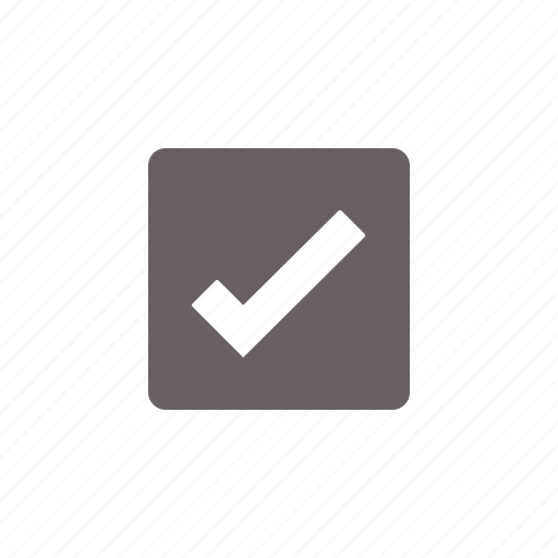 box, checkbox, checked, confirm, on, solid, tick, ticked icon