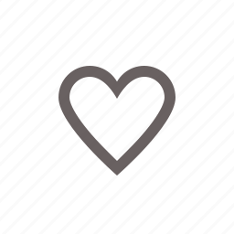 heart, off, toggle icon