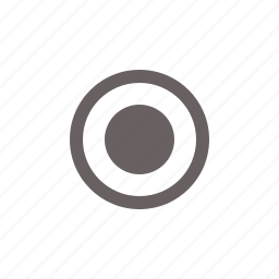 button, circle, on, radio, round, toggle icon