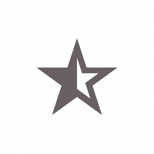 award, favorite, half, rating, star icon