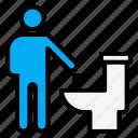 garbage, man, rubbish, throwing, toilet, wc icon