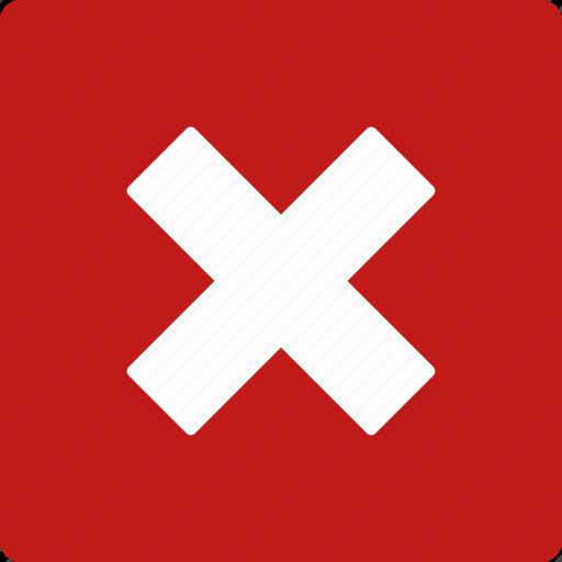 cancel, close, delete, exit, log out, logout, trash icon