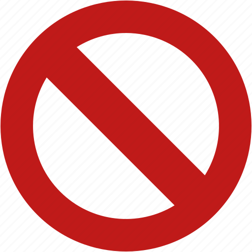 cancel, close, closed, forbidden, impossible, no entry, wrong icon