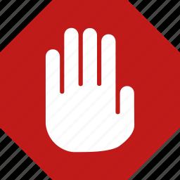 abort, alarm, alert, danger, problem, stop, warning icon