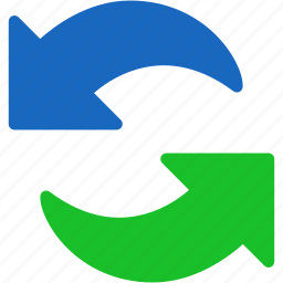 arrows, exchange, refresh, reload, sync, update, upload icon