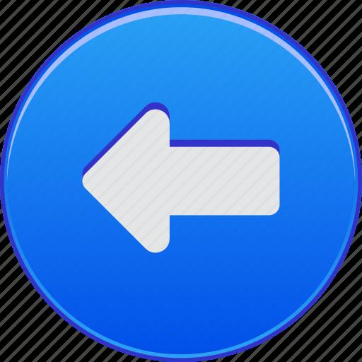 back, backward, left arrow, navigation, pointer, previous, undo icon