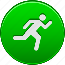 activity, go, run, running, sport, start, training icon