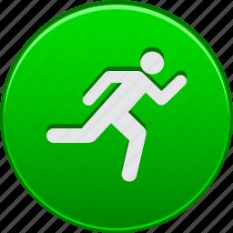 activity, go, run, running, sport, start, training icon