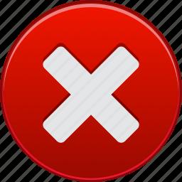 cancel, close, delete, erase, reject, remove, stop icon