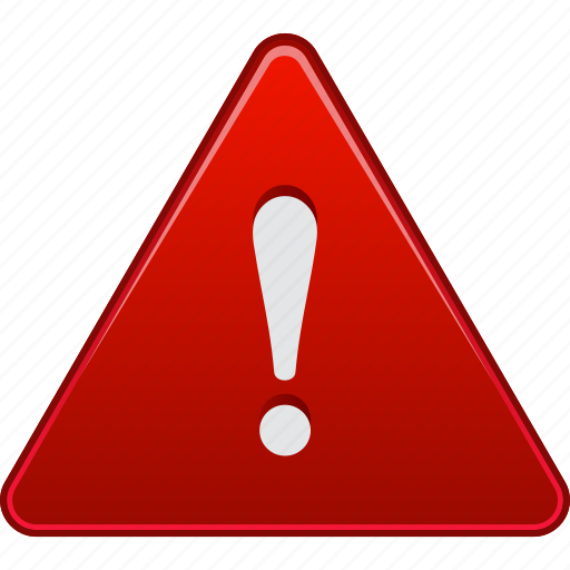alarm, alert, attention, beware, caution, danger, error icon