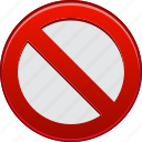 ban, forbidden, no entry, prohibited, restrict, restricted, stop sign icon