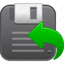backup, disk, diskette, floppy, memory, save, store icon