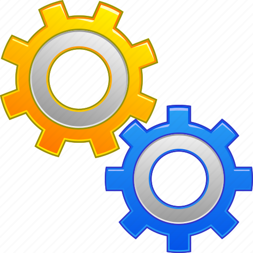 configuration, desktop settings, gears, industry, software, support, tools icon