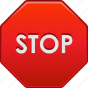 control, danger, pause, road signs, stop sign, terminate, warning